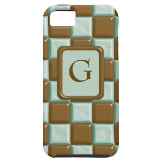 Checkerboard - Chocolate Mint iPhone 5 Cases