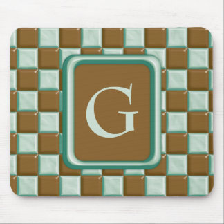 Checkerboard - Chocolate Mint Mouse Pad