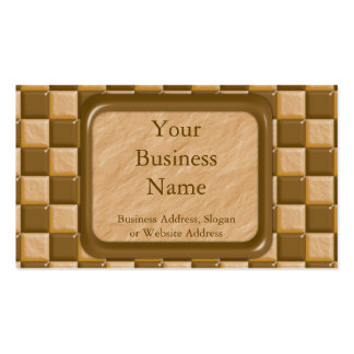 Checkerboard - Chocolate Peanut Butter Double-Sided Standard Business Cards (Pack Of 100)