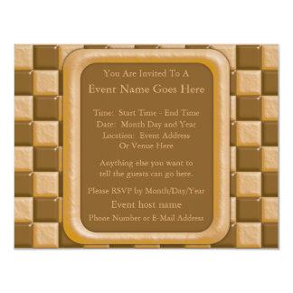 Checkerboard - Chocolate Peanut Butter Card