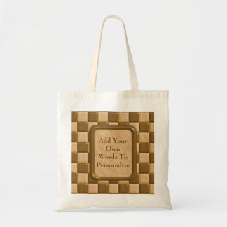 Checkerboard - Chocolate Peanut Butter Tote Bag