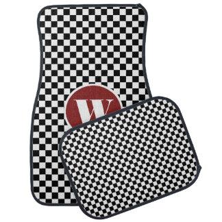 Checkerboard Custom Monogram Car Mat Set