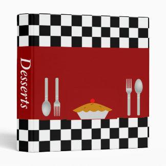Checkerboard Dessert Recipe Binder