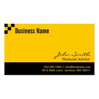 Checkerboard Financial Advisor Business Card