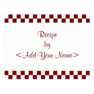 Checkerboard Gingerbread Recipe Cards 4 x 6