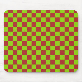 Checkerboard Gone Mad Mouse Pad