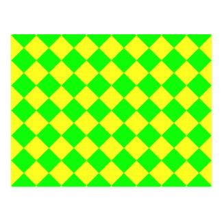 CHECKERBOARD GREEN! ~ POSTCARD