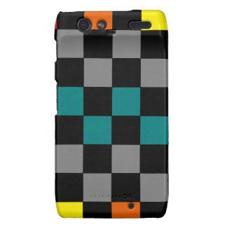 Checkerboard Grey Rainbow Turquoise Blue-Green Motorola Droid RAZR Covers