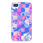 Checkerboard Hibiscus  iPhone 4/4S Cover