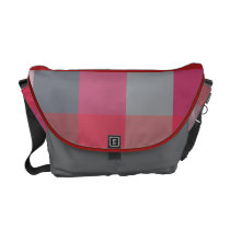 Checkerboard Hues Courier Bag