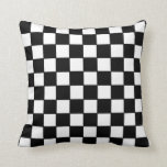 "Checkerboard in Black and White Throw Pillow<br><div class=""desc"">Custom retro black and white checkerboard that I designed myself. Colorful and bright,  this would make a great gift for anyone,  including yourself!</div>"