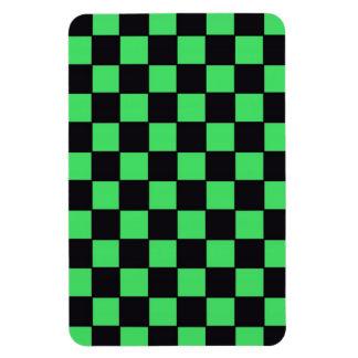 Checkerboard in Black & Green Vinyl Magnet