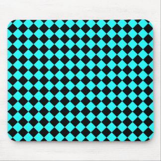 CHECKERBOARD IN BLUE ~ MOUSE PAD