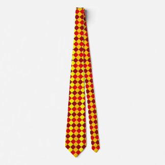 CHECKERBOARD in YELLOWS & REDS ~~.jpg Tie