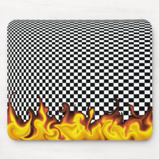 Checkerboard Infinity Mouse Pad