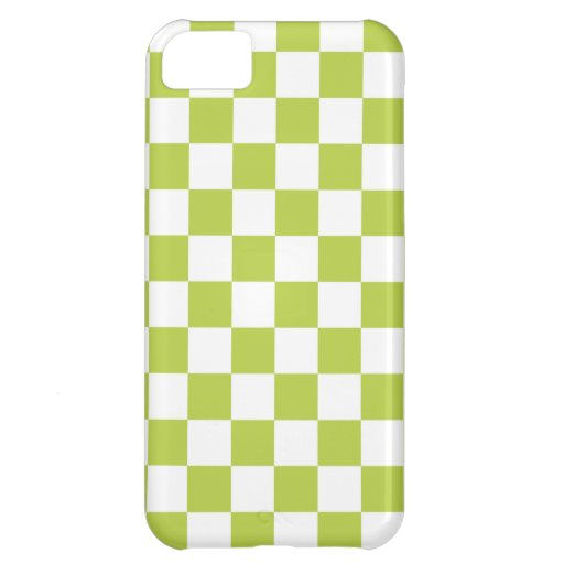 Checkerboard iPhone 5 Case in Tender Shoots Green