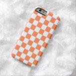 Checkerboard iPhone 6 case in Nectarine Orange
