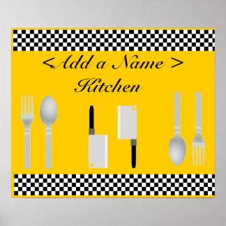 Checkerboard Kitchen Poster Print