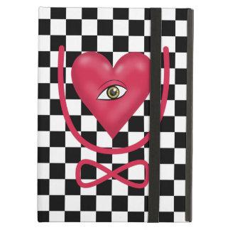 Checkerboard love you forever Eye heart U eternity iPad Air Cases