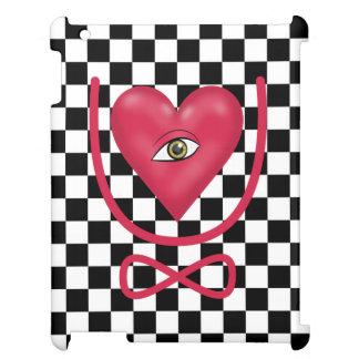 Checkerboard love you forever Eye heart U eternity iPad Cases