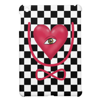 Checkerboard love you forever Eye heart U eternity iPad Mini Cases