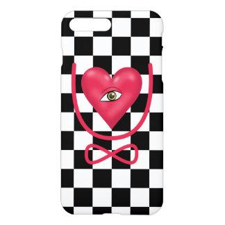 Checkerboard love you forever Eye heart U eternity iPhone 7 Plus Case