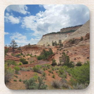 Checkerboard Mesa Zion National Park Utah Beverage Coaster