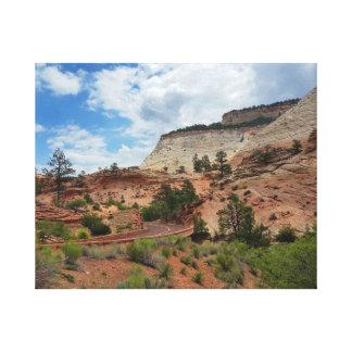 Checkerboard Mesa Zion National Park Utah Canvas Print