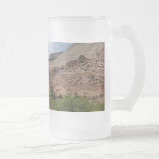 Checkerboard Mesa Zion National Park Utah Frosted Glass Beer Mug