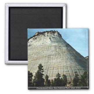 Checkerboard Mesa, Zion National Park, Utah, U.S.A Refrigerator Magnets