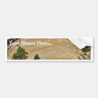 Checkerboard Mesa Zion Sandstone Car Bumper Sticker