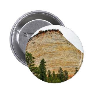 Checkerboard Mesa Zion Sandstone 2 Inch Round Button