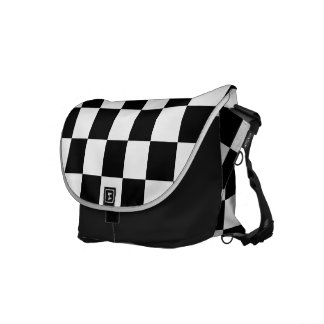 Checkerboard Messenger Bag