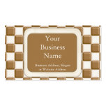 Checkerboard - Milk Chocolate and White Chocolate Business Card Template