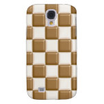 Checkerboard - Milk Chocolate and White Chocolate Samsung Galaxy S4 Cases