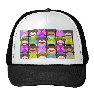 Checkerboard Monkeys. Mesh Hats