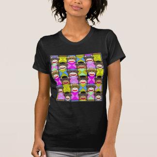 Checkerboard Monkeys. T-Shirt