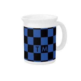 Checkerboard Monogram Blue/Black CMXR Pitcher