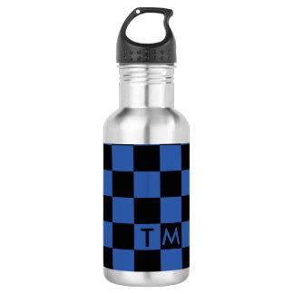 Checkerboard Monogram Blue/Black CMXR Water Bottle