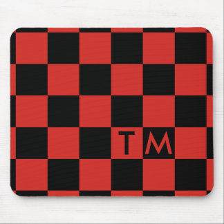 Checkerboard Monogram Red/Black CMXR Mouse Pad