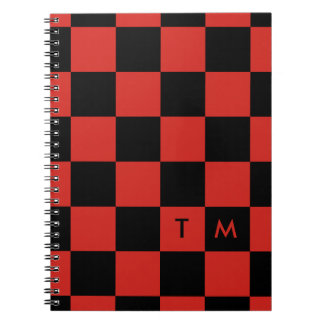 Checkerboard Monogram Red/Black CMXR Notebook