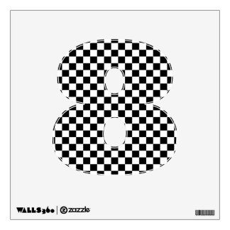 Checkerboard Number Decal - Numerical