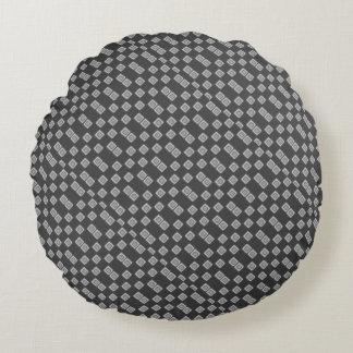 Checkerboard of Grays Tiled Round Throw Pillow