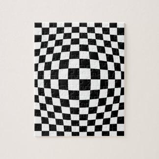 Checkerboard optical illusion jigsaw puzzle