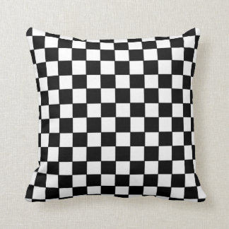 Checkerboard Pattern American MoJo Pillow