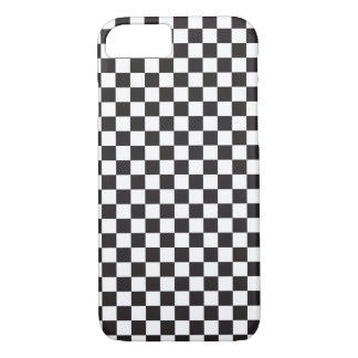 Checkerboard Pattern Black and White iPhone 8/7 Case