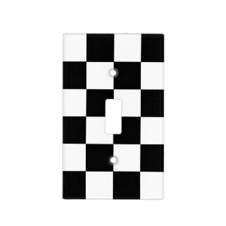 Checkerboard Pattern Light Switch Cover