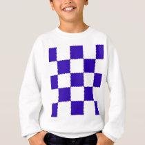 checkerboard  pattern sweatshirt