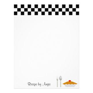"""Checkerboard Pie Recipe Paper 8.5"""" X 11"""" Flyer"""