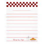 Checkerboard Pie Recipe Paper - With Lines